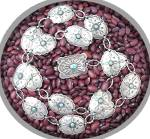Click to view larger image of Sterling Silver Turquoise 30 inch Belt/Necklace (Image6)