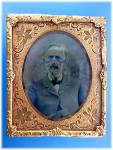 Antique Tintype photo and Gold Frame  and Stand
