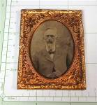 Click to view larger image of Antique Tintype photo and Gold Frame  and Stand (Image4)