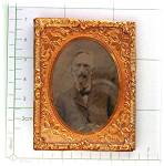 Click to view larger image of Antique Tintype photo and Gold Frame  and Stand (Image7)