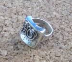 Click to view larger image of Sterling Silver Ornate Abstract Design  ring (Image7)