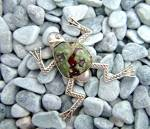 Click to view larger image of Taxco Citlal Castillo 17 Sterling Silver Agate  Frog Pi (Image6)