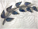 Click to view larger image of Mexican Silver and Abalone Leaf Pin (Image1)
