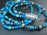 Native American Sterling Silver Turquoise Necklace