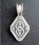 Click to view larger image of Sterling Silver Elyse Ryan Hearts Pendant Enhancer (Image8)
