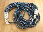 Necklace Lapis Turquoise Spiny Sterling Silver Native A
