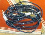 Click to view larger image of Necklace Lapis Turquoise Spiny Sterling Silver Native A (Image4)