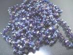 Crystal Faceted Lavender Color 78 Inch Necklace