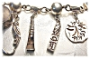 Click to view larger image of  Bracelet Sterling Silver Mexican 9 Charm YM (Image2)