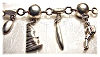 Click to view larger image of  Bracelet Sterling Silver Mexican 9 Charm YM (Image4)