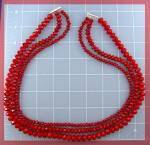 Click to view larger image of Donna Dressler Sterling Silver Red Crystal Necklace (Image1)