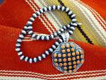 Click to view larger image of Sunshine Reeves Coral Pendant Sterling Silver Beads   (Image4)