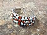 Click to view larger image of Native American Dry Creek Turquoise Coral Sterling Silv (Image6)