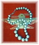 Necklace American Indian Hand Made Beads Sterling Silve
