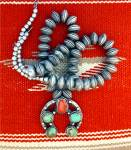 Click to view larger image of Native American Sterling Silver Dimes Coral Turquoise N (Image1)