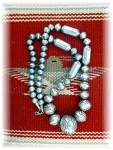 Native American Navajo Pearls Sterling Silver Stamped B