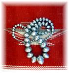 Click to view larger image of Navajo Pearls Sterling Silver Necklace 126 Grams (Image4)