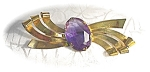 Click to view larger image of CORO Amethyst Brooch Sterling Craft By CORO Amethyst (Image1)