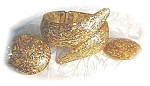 Click here to enlarge image and see more about item 717200339: Gold Flecked Pull Apart Bracelet & Earrings