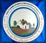 Torquay Pottery Motto Plate Come What Come May