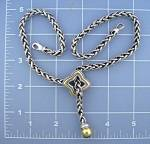 DAVID YURMAN 18K Gold Sterling Silver Necklace