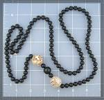 Click to view larger image of IVORY and Black Onyx Bead Necklace (Image7)