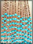 Turquoise Heishi Bead Necklace Santo Domingo