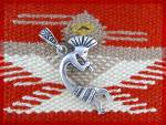 Click to view larger image of Native American Sterling Silver Kokopelli Dancer Pendan (Image1)