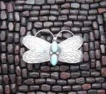 Click to view larger image of T YAZZIE Sterling Silver Turquoise Hair Barrette (Image5)