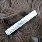 Sterling Silver Turquoise Hair Barrette