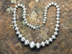 Click to view larger image of Larry Pinto Sterling Silver Navajo Pearls Native Americ (Image2)