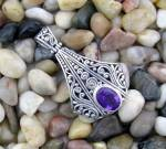 Click to view larger image of Amethyst and Sterling Silver Pendant (Image5)