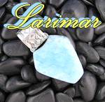 Click to view larger image of Larimar Sterling Silver NAKAI Pendant (Image1)