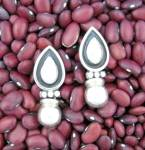 Click to view larger image of Sterling Silver Mexico Drop Ball Pierced  Earrings (Image1)