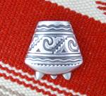 Click to view larger image of Los Ballesteros Taxco Mexico  Sterling Silver Brooch Pi (Image1)