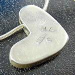 Click to view larger image of Necklace 14K Gold Sterling Silver Heart Richard Lyndsay (Image3)