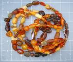 Click to view larger image of Amber Baltic 3 Strands 23 Inch Necklace Sterling Silve (Image2)
