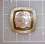 Click to view larger image of Brooch LOS BALLESTEROS Aztec Face Mexico (Image3)