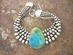 David Troutman  Navajo Pearls Sterling SilverTurquoise