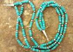 Native American Sterling Silver 3 Strand Turquoise