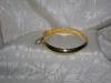 Click to view larger image of Plain Gold Over Sterling Silver Bangle Bracel (Image2)