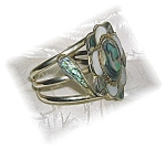 Click to view larger image of Silver and Abalone  Mexico  Bracelet (Image1)