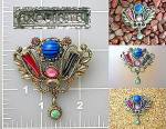 Vintage Brooch, Pin signed EXQUISITE,