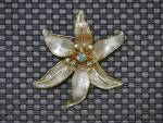 Click to view larger image of Gold Borealis Crystals Flower Brooch BSK (Image3)