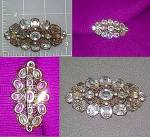 Paste Crystals Brooch Pin Vintage