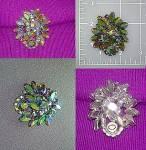 WEISS Brooch pin borealis crystals
