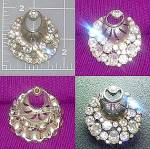 Click here to enlarge image and see more about item C0212200914: Vintage silver crystal Brooch pin