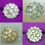 Vintage crystal brooch pin