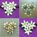 Vintage brooch pin in flower crystals