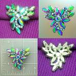 Click here to enlarge image and see more about item C0217200936: Vintage aurora borealalis brooch pin